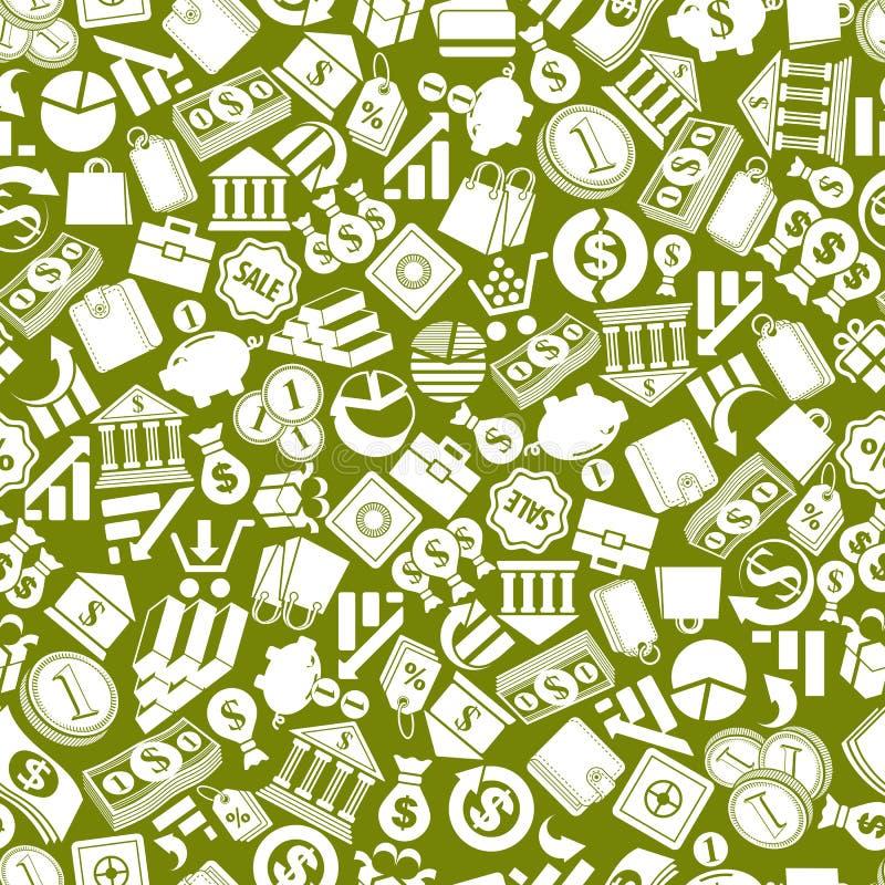 Finance Background: Money Signs Seamless Background, Finance Theme Stock