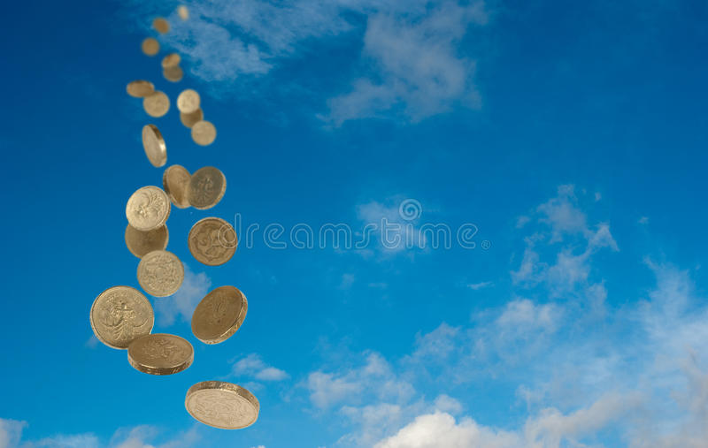 Money from the sky royalty free stock photos