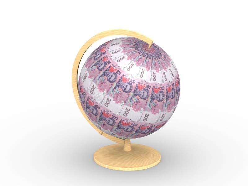Money sphere royalty free illustration