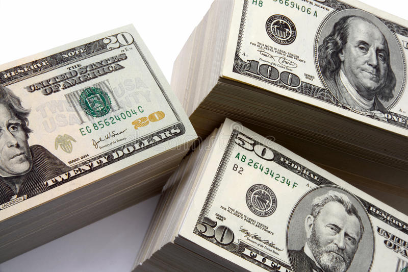 MONEY FINANCIAL PLANNING WEALTH MANAGEMENT RETIREMENT FUND PILE royalty free stock image