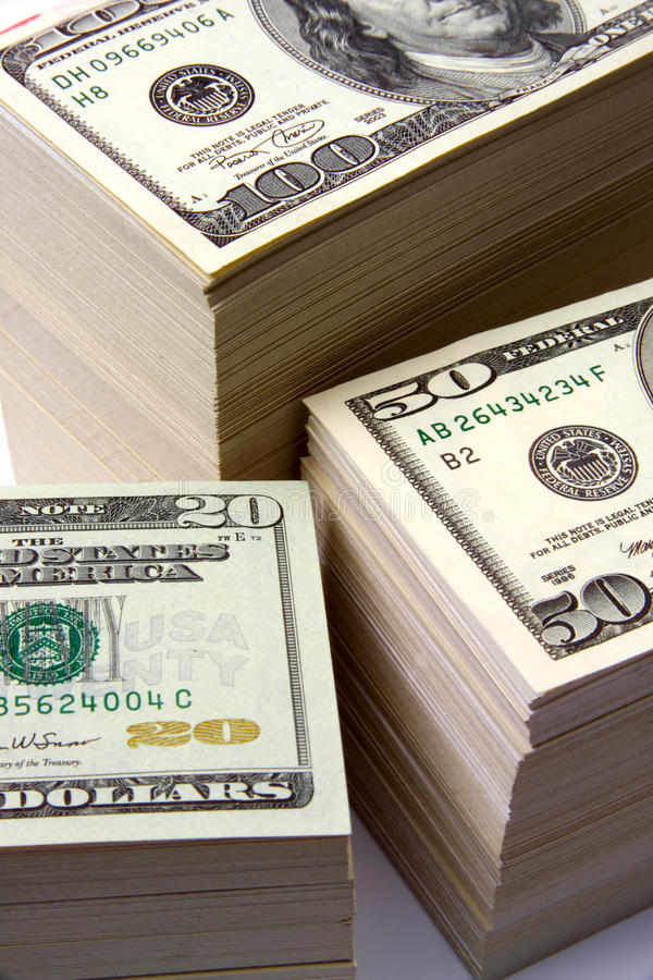 MONEY FINANCIAL PLANNING WEALTH MANAGEMENT RETIREMENT FUND PILE royalty free stock photo