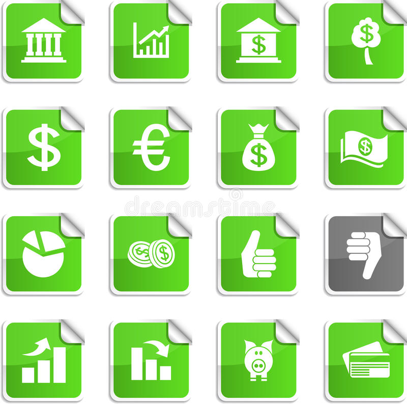 Download Money stickers. stock vector. Image of design, business - 14062275