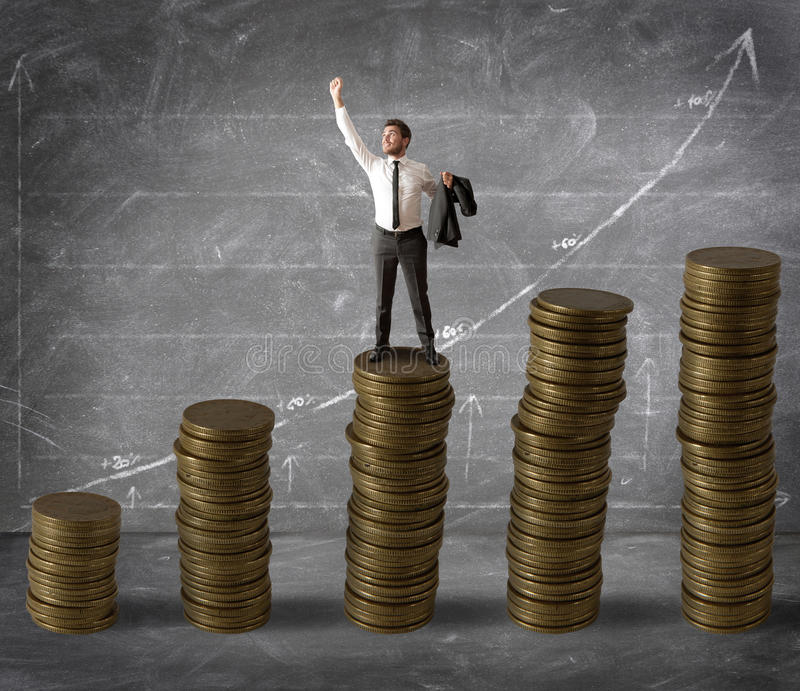 Money and success royalty free stock images