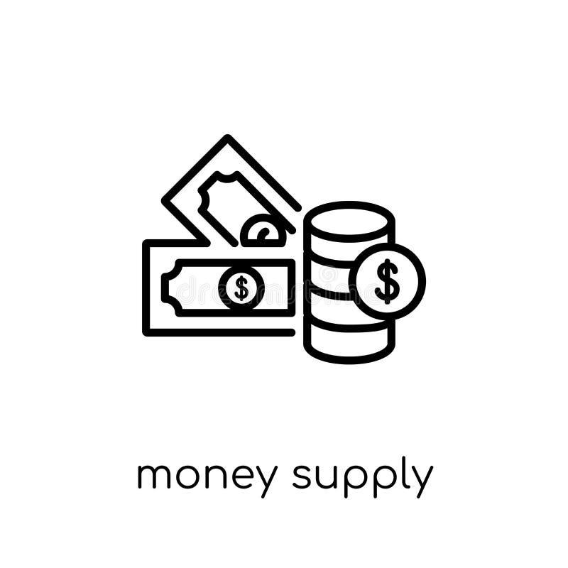 Money supply icon. Trendy modern flat linear vector Money supply vector illustration