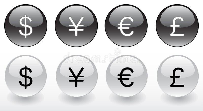Money Symbols Stock Vector Illustration Of Finance Euro 7451086