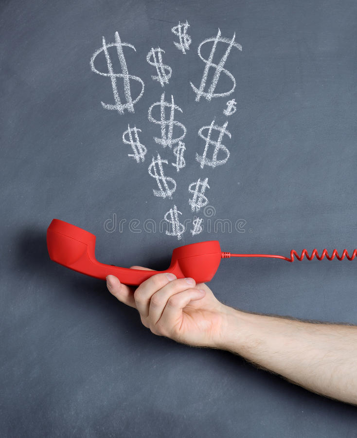 Money talks. A concept of money talks royalty free stock images