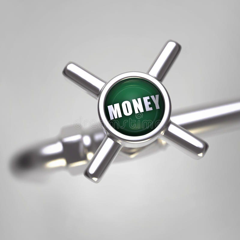 Money Tap Royalty Free Stock Images