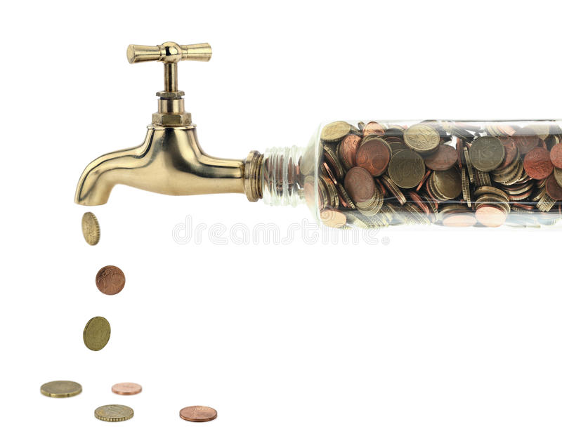 Money tap stock images