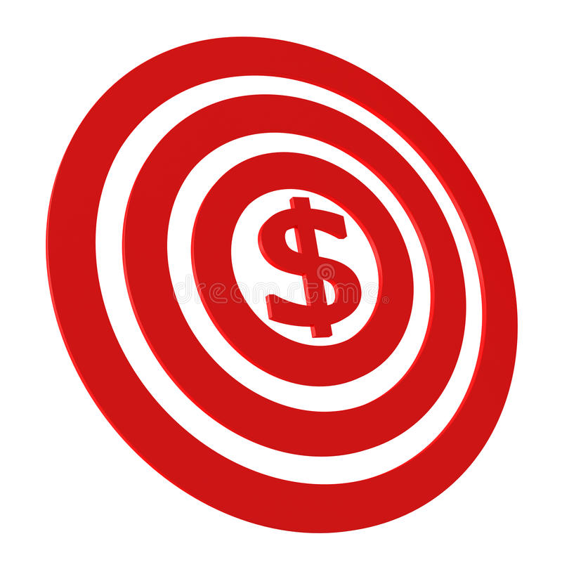 Money Target Royalty Free Stock Images