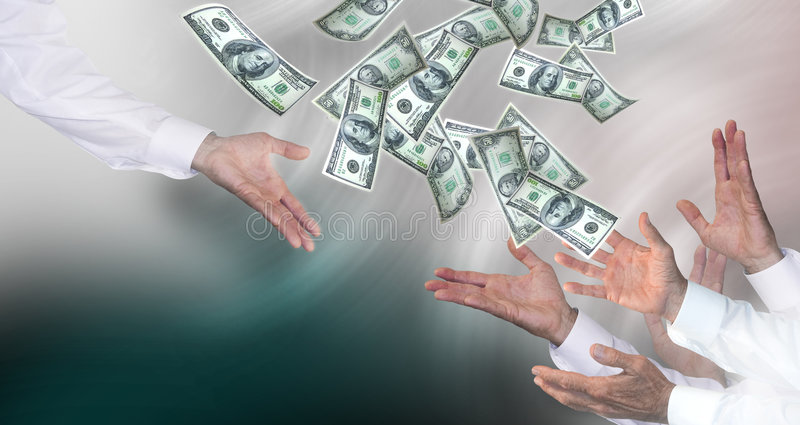 Money throwing royalty free stock images