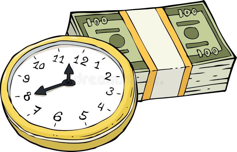 money time vektor illustrationer