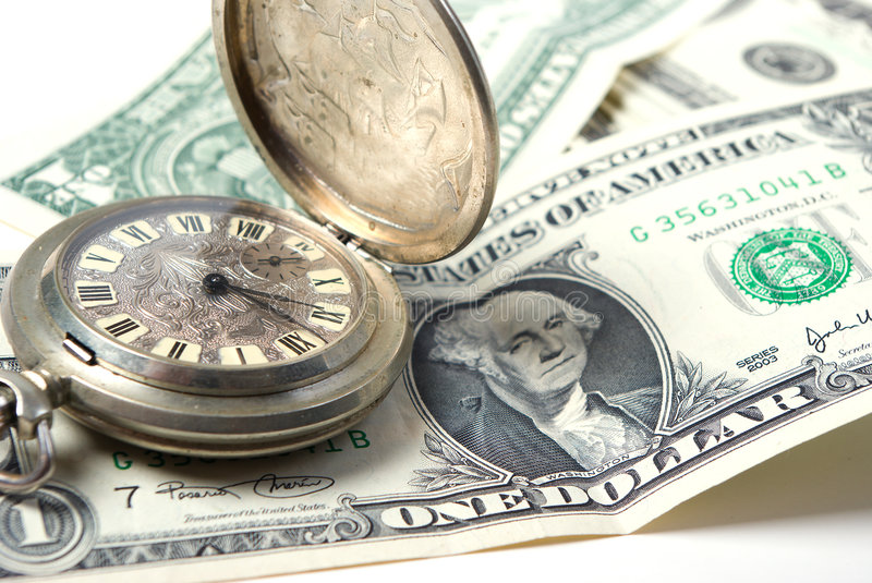 Money-time Royalty Free Stock Image