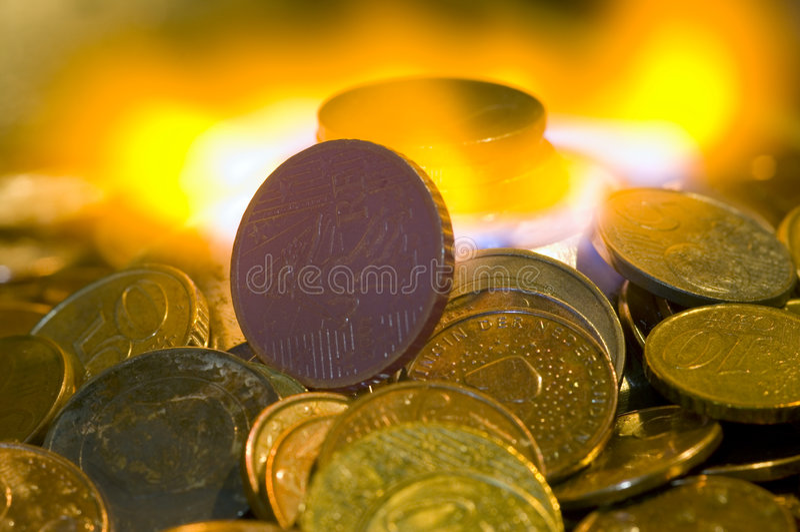Money to Burn royalty free stock photos