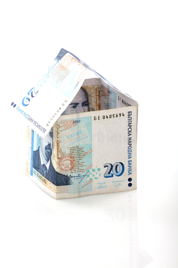 Money to buy home stock photography