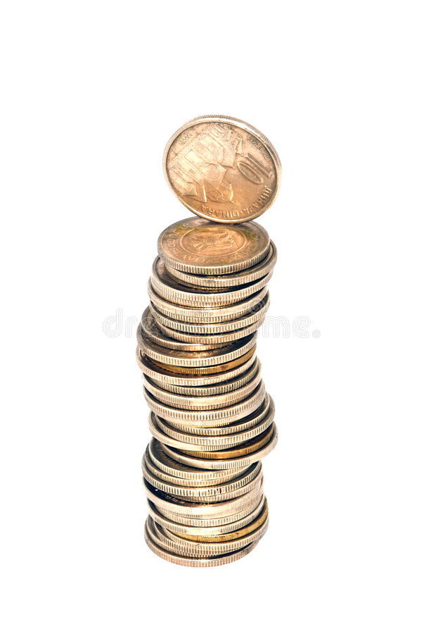 Money tower royalty free stock image