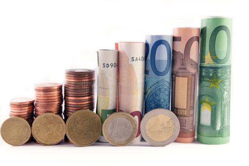 Money tower stock image
