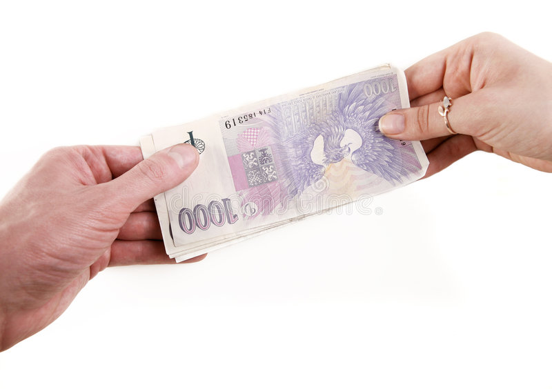 Money transfer royalty free stock photo