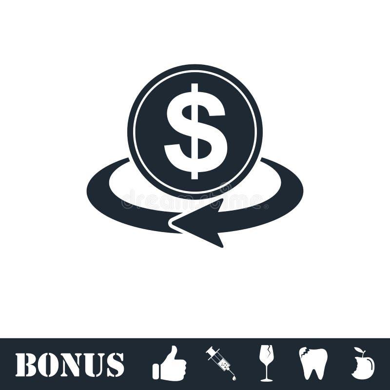 Money transfer icon flat vector illustration