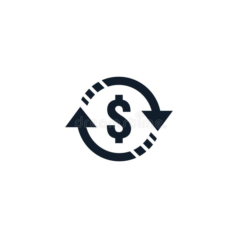 Money transfer Icon symbol. currency exchange, financial investment service, cash back refund, send and receive mobile payment con. Cept. line icon vector vector illustration