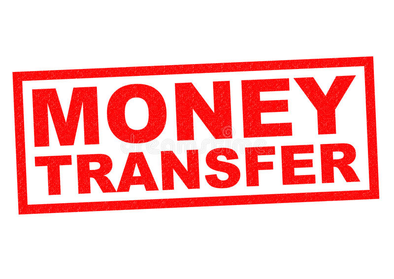 MONEY TRANSFER. Red Rubber Stamp over a white background vector illustration