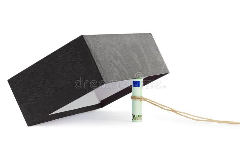 Money trap. Isolated on white background royalty free stock photos