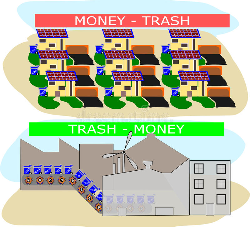 MONEY - TRASH - MONEY stock photography