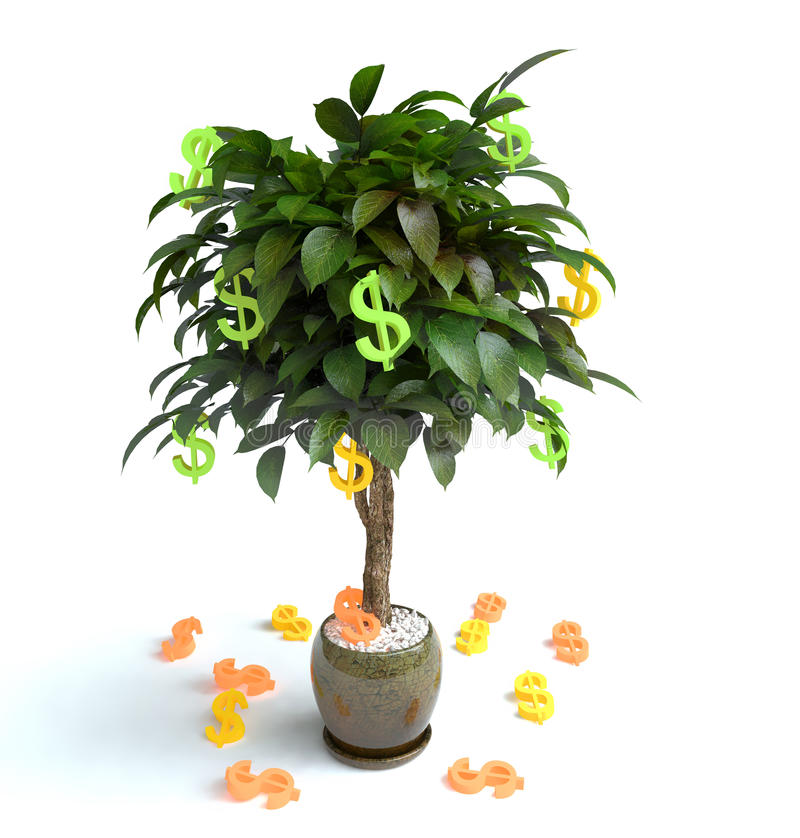 Money Tree. For a bckground picture stock images