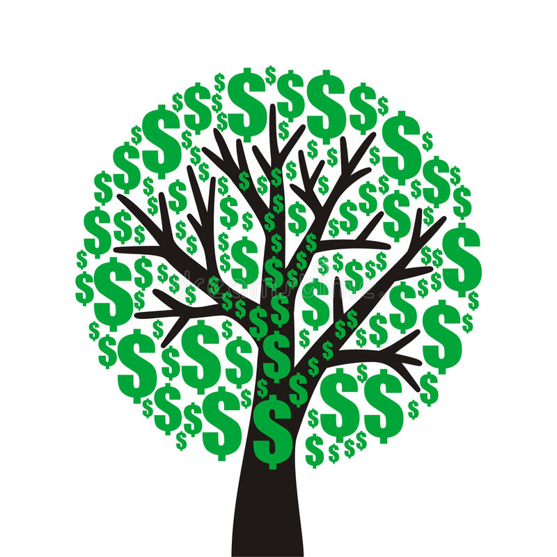 Money tree. On white background