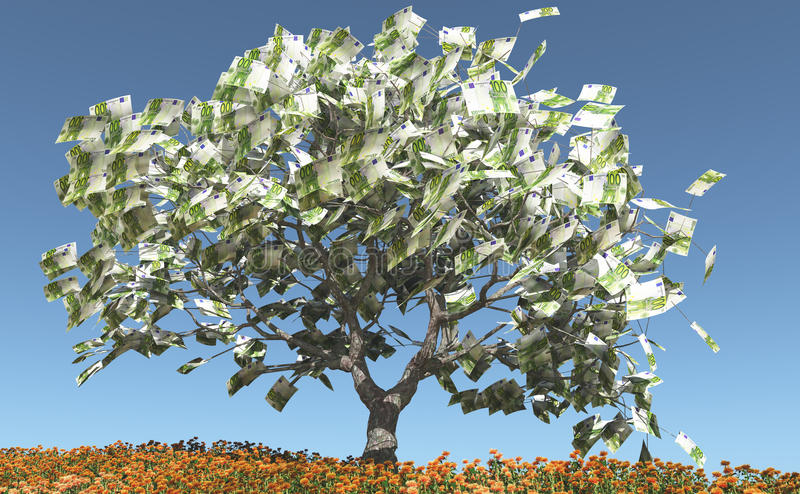 Download Money Tree stock illustration. Image of wellness, investment - 23443006