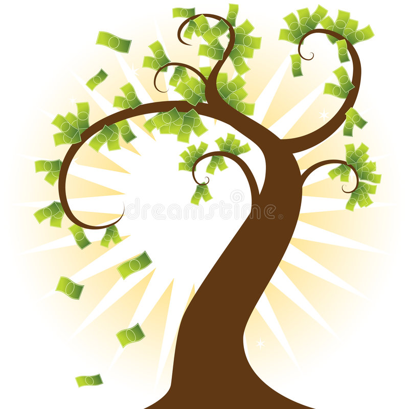 Free Money Tree Royalty Free Stock Photo - 9265155