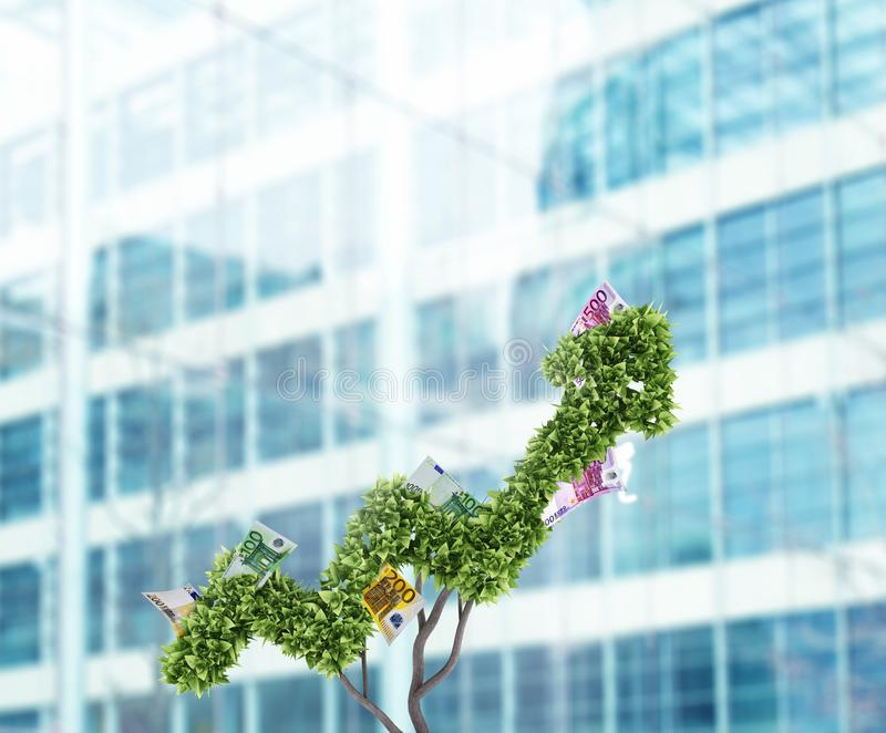 Money tree. Concept of growth and improvement. 3d rendering royalty free stock images