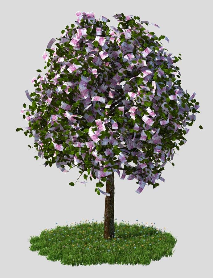 Download Money Tree, Five Hundred Euro Bills. Stock Illustration - Image: 22780020