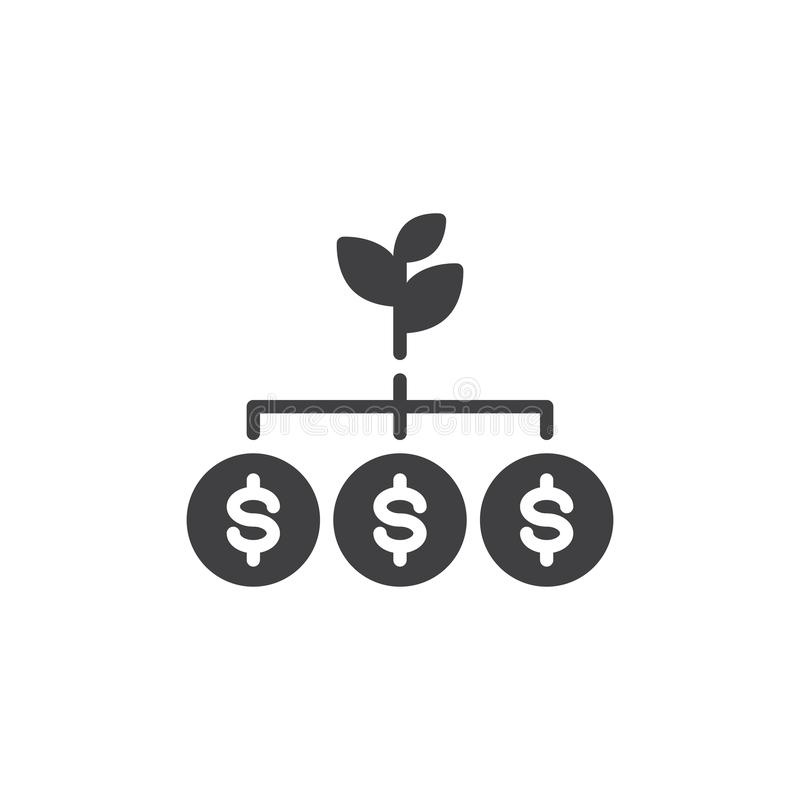 Money Tree vector icon stock illustration