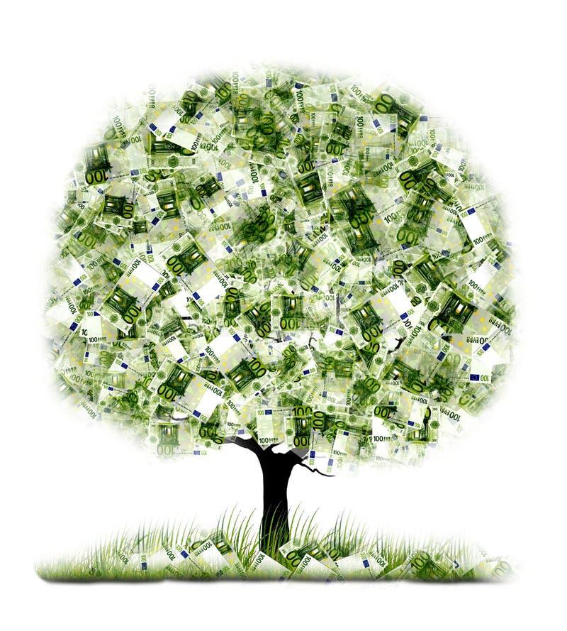 Money tree on White background stock illustration