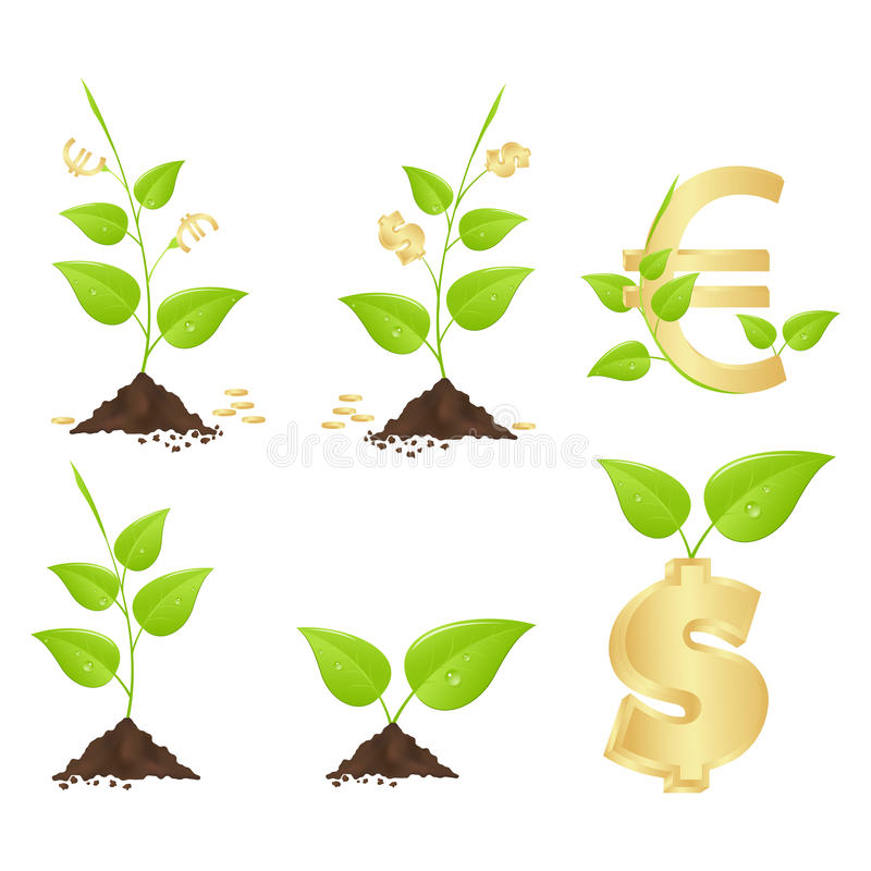 Money trees royalty free illustration