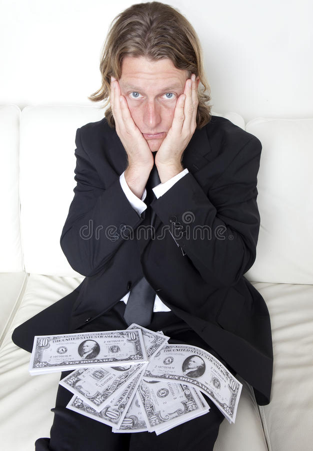 Money Trouble royalty free stock images