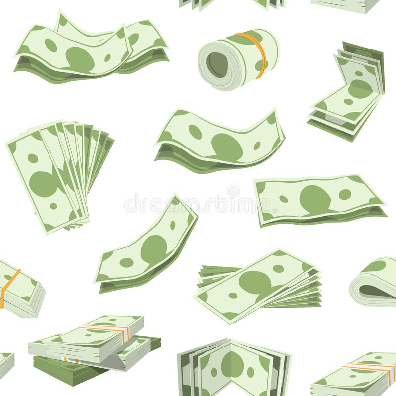 Money vector stack of dollar or currency cash monetary in bank moneysaving and financial business and finance banking vector illustration