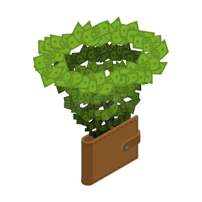 Money vortex. Hurricane cash. financial cycle. Tornado of dollar royalty free illustration