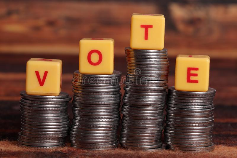 Money and vote royalty free stock photos