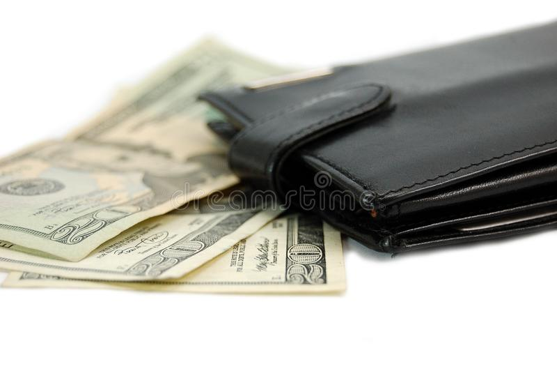 Money and wallet royalty free stock image