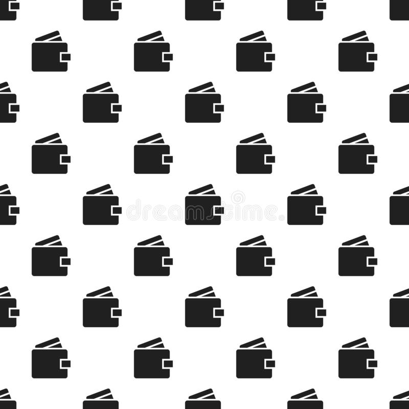 Money wallet pattern seamless vector stock illustration