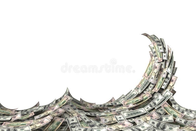 Money Wave royalty free illustration