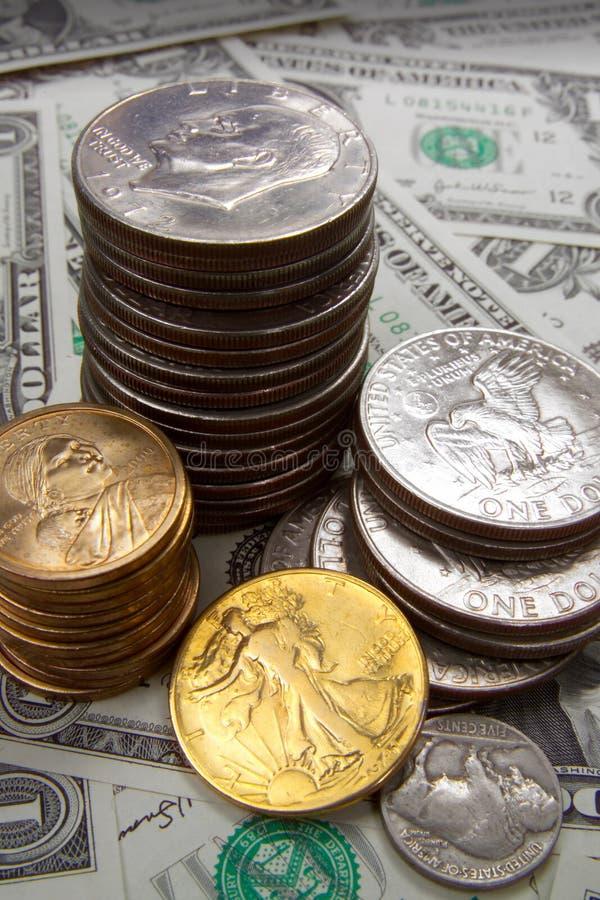 MONEY FINANCIAL PLANNING WEALTH MANAGEMENT RETIREMENT SAVING PILE royalty free stock photo