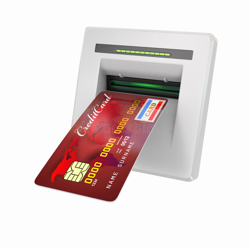 Free Money Withdrawal. ATM And Credit Or Debit Card Stock Photography - 24228902