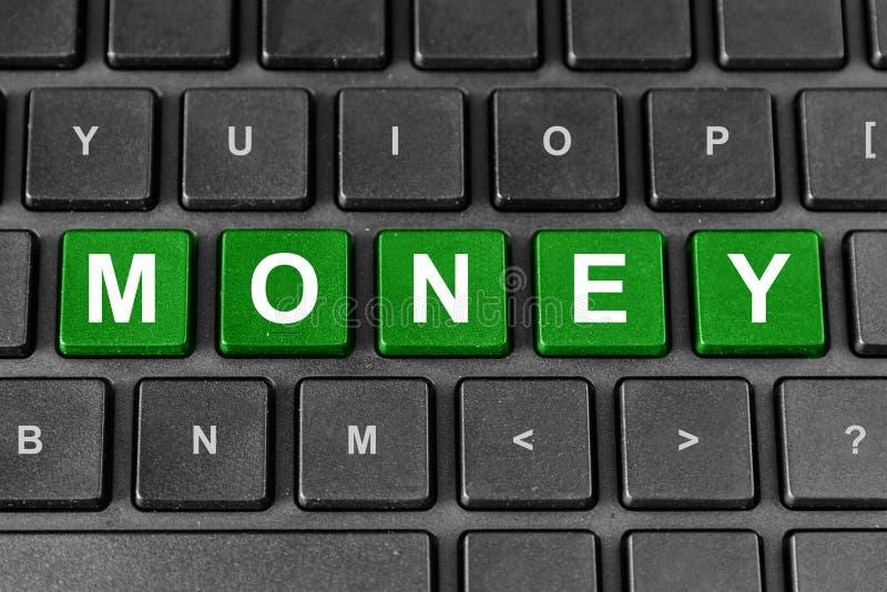 Money word on keyboard stock photography
