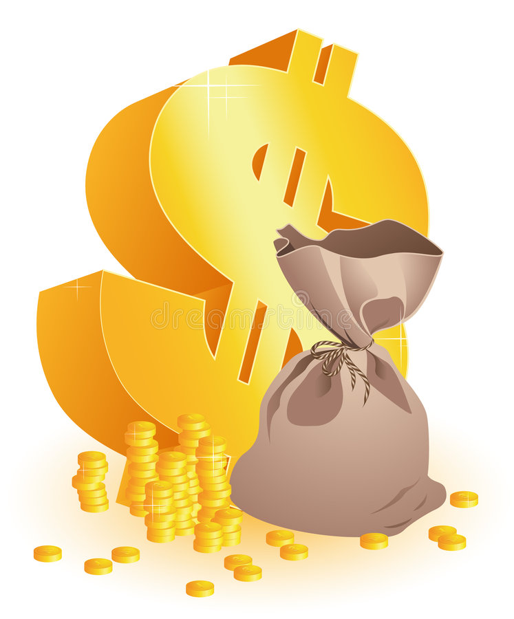 moneybag доллара иллюстрация штока
