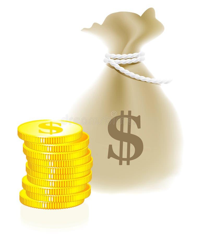 moneybag монетки иллюстрация штока