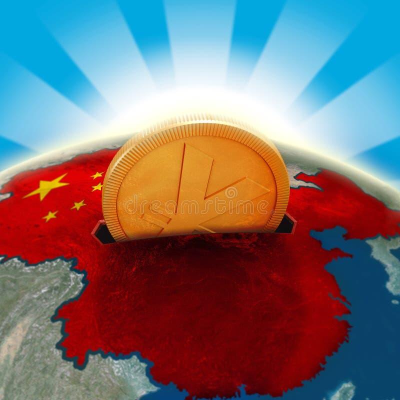Moneybox de China ilustração do vetor