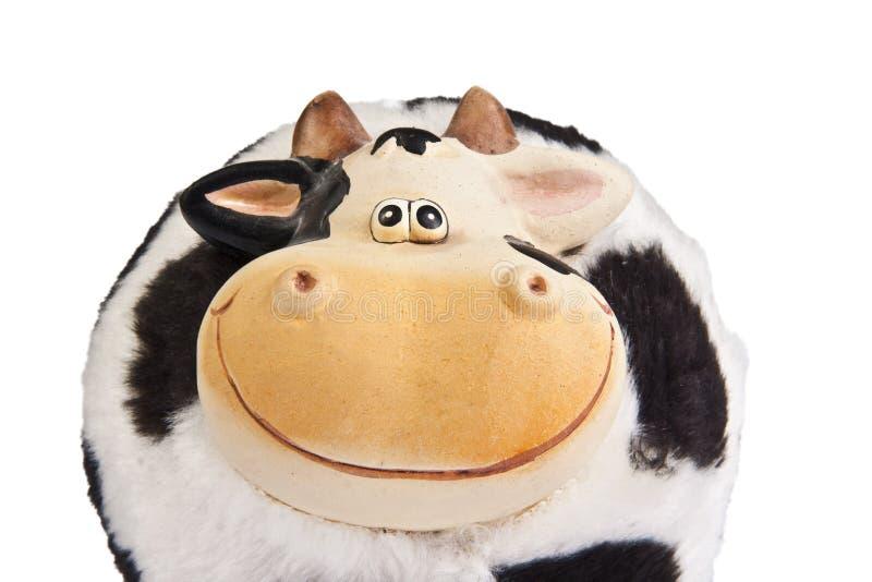 Moneybox de la vaca fotografía de archivo libre de regalías