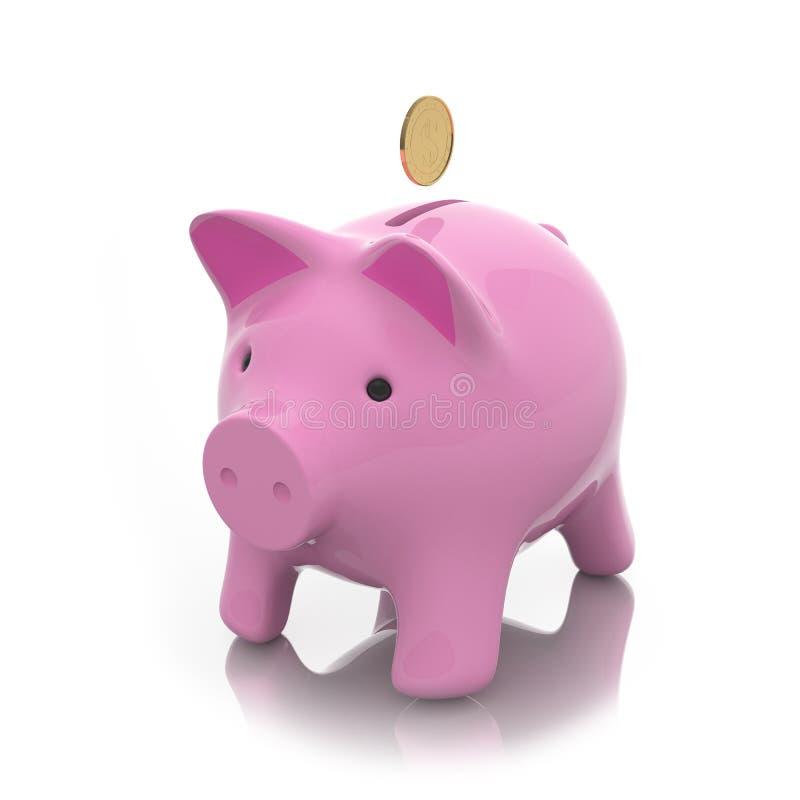 Moneybox Prosiątko Zdjęcie Royalty Free